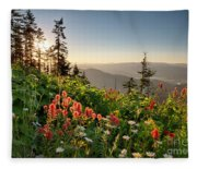 Evening Kisses Fleece Blanket