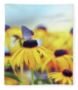 Wildflower Visitor Fleece Blanket