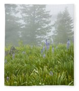 Wildflowers And Fog Fleece Blanket