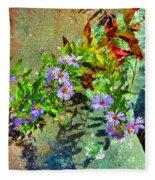 Wildflowers And Rocks Fleece Blanket