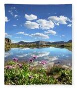 Wildflowers At A Tarn In Valecito Basin - Weminuche Wilderness - Colorado Fleece Blanket