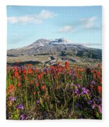 Wildflowers At Mount St Helens Fleece Blanket