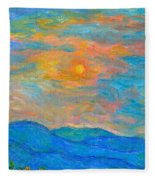 Wildflowers By A Blue Ridge Sunset Fleece Blanket
