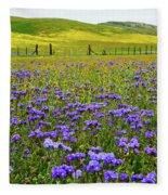 Wildflowers Carrizo Plain National Monument Fleece Blanket