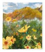 Wildflowers In The Desert Fleece Blanket