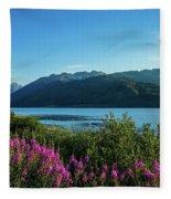 Wildflowers On The Edge Fleece Blanket