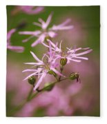 Wildflowers - Ragged Robin Fleece Blanket