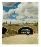 Wildlife Crossing Fleece Blanket