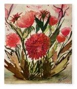 Wildly Red Fleece Blanket