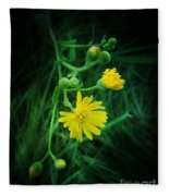 Wildly Yellow Fleece Blanket