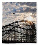 Wildwood Roller Coaster Fleece Blanket