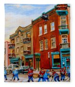 Wilensky's Street Hockey Game Fleece Blanket