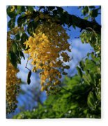 Wilhelmina Tenney Rainbow Shower Tree Makawao Maui Flowering Trees Of Hawaii Fleece Blanket