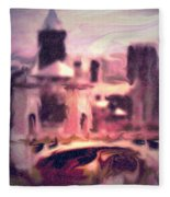 Wilkes Barre Pennsylvania Fleece Blanket