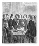 William Harvey Explaining Blood Fleece Blanket