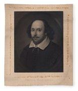William Shakespeare Fleece Blanket