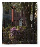 William Street In Bloom Fleece Blanket
