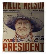 Willie For President Fleece Blanket