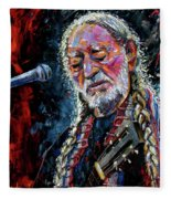 Willie Nelson Portrait Fleece Blanket
