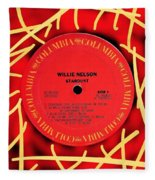 Willie Nelson Stardust Lp Label Fleece Blanket