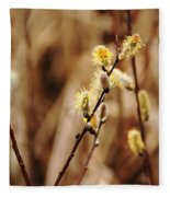 Willow Catkins Fleece Blanket