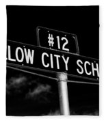 Willow City School Sign Fleece Blanket