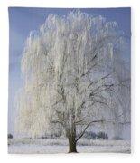 Willow In Ice Fleece Blanket