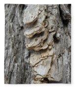 Willow Tree Bark Up Close Fleece Blanket