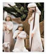 Willow Tree Nativity At Christmas Fleece Blanket