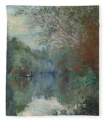 Willows At The Edge Of The Yerres Fleece Blanket