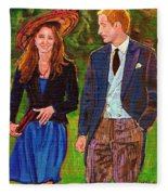 Wills And Kate The Royal Couple Fleece Blanket