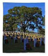Wilmington National Cemetery Christmas Fleece Blanket