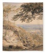 Wilmot's Hill, Kent Fleece Blanket