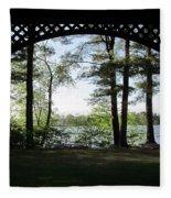 Wilson Pond Framed Fleece Blanket