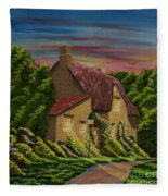 Wiltshire At Sunset Fleece Blanket