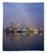 Winchester Bay Fishing Boats Fleece Blanket