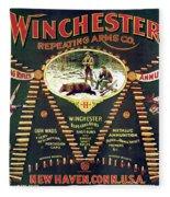 Winchester Double W Cartridge Board Fleece Blanket