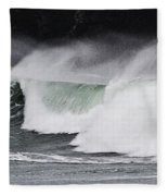 Wind And Waves In Oregon Fleece Blanket