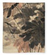 Wind In The Lotus Fleece Blanket