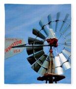 Wind Mill Pump In Usa 2 Fleece Blanket