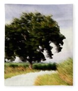 Wind Motif Old Dam Road Fleece Blanket