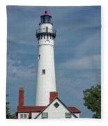 Wind Point Lighthouse Fleece Blanket