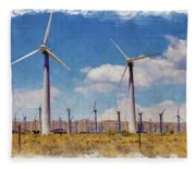 Wind Power Fleece Blanket