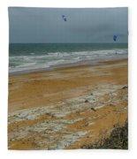 Wind Surfing In Flagler Fleece Blanket