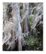 Wind Through The Cypress Trees Fleece Blanket
