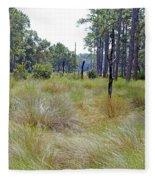 Windblown Grass Fleece Blanket