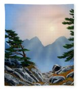 Windblown Pines Fleece Blanket