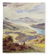 Windermere From Ormot Head Fleece Blanket