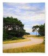 Winding Road Into The Unknown Fleece Blanket