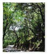 Winding Road Santa Ynez Mountains Fleece Blanket
